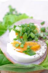 Wędlina sałata jajko szczypiorek