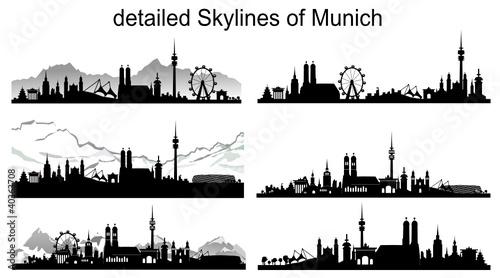 m nchen skyline silhouette stockfotos und lizenzfreie vektoren auf bild 40363708. Black Bedroom Furniture Sets. Home Design Ideas