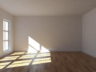 Stanza vuota da arredare con finestra