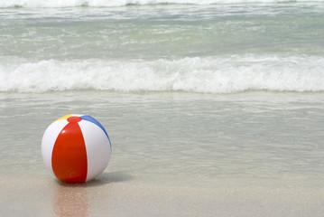 Beach Ball in Ocean Surf