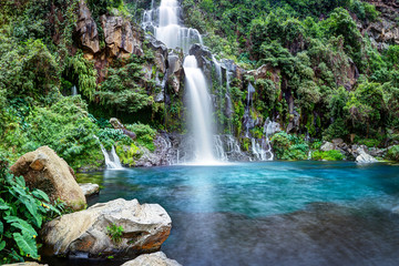 Fototapeten Wasserfalle Cascade du bassin des Aigrettes - Ile de La Réunion