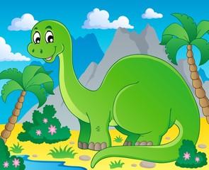 Photo sur Plexiglas Dinosaurs Scene with dinosaur 1