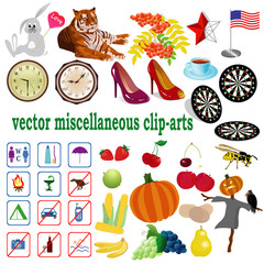 vector collection with clip-arts