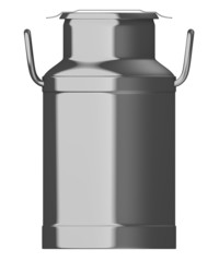 3d render of milk barrel