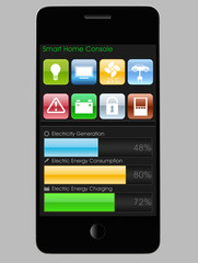 smart house control GUI