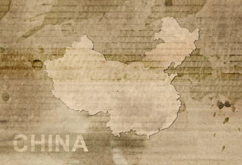 China map old style