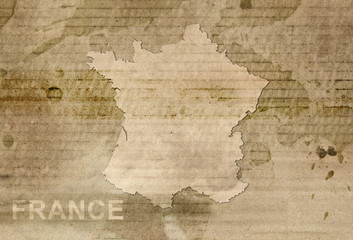 france map antique style