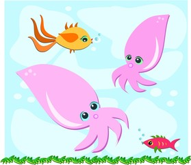 Fish and Squid are Friends