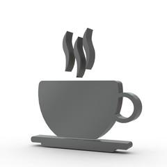 3d Icon Kaffee schwarz