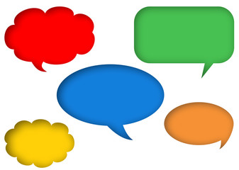 embedded colorful speech bubbles