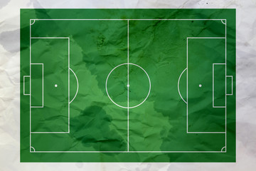wet and wrinkled soccer field paper