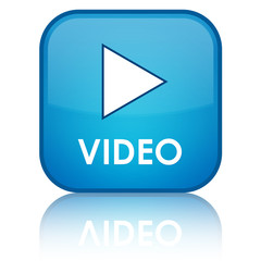 """VIDEO"" blue button"