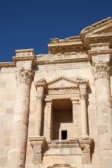 Hadrian's Arch of Triumph in Jerash, Jordan