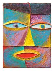 Face 12_2004_Acrylic on canvas