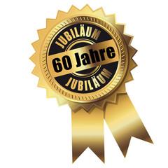 60 Jahre - Jubiläum gold