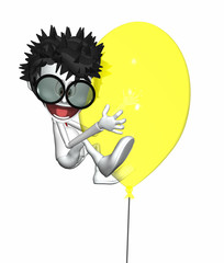 3D People - Yellow Balloon