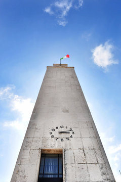 Sabaudia, torre civica. Veduta prospettica