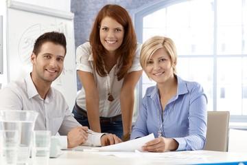 Portrait of office team