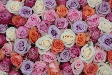 Pastel rose wedding flowers