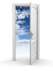 door to sky - freedom abstract concept