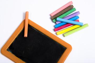 Piccola Lavagna con gessi colorati
