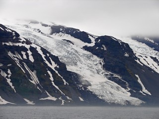 Weyprecht´s glacier on Jan Mayen island, the Arctic