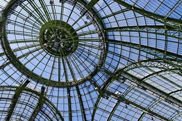 Tuinposter Aan het plafond Coupole et verrière du Grand Palais, Paris, France.