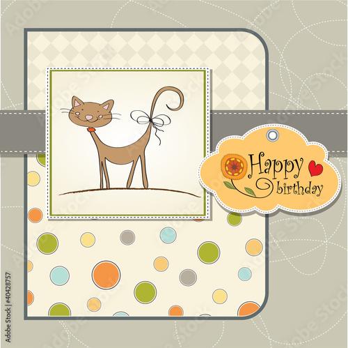 Открытки с изображениями кошек