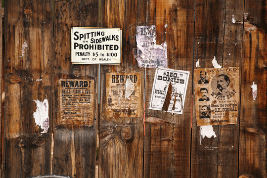 old wanted poster 18xx years, Arizona, USA