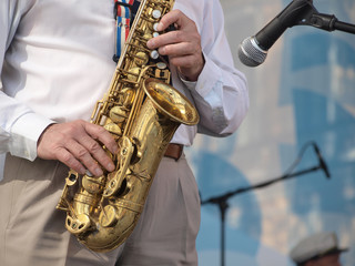 Saxophone on stage Wall mural