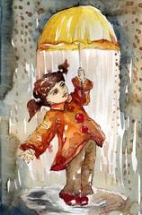 dziewczynka z parasolką