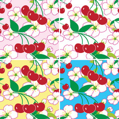 fruit and flower seamless pattern