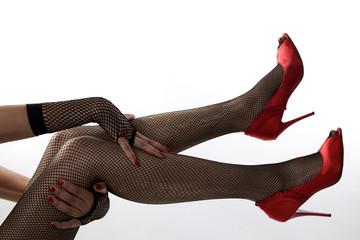 Jeu de jambes sexy