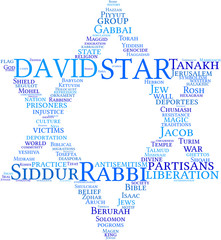star of David - tagcloud icon