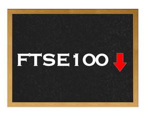 FTSE 100 negative.