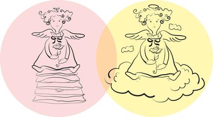 angel and princess