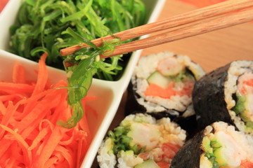 Maki sushi.
