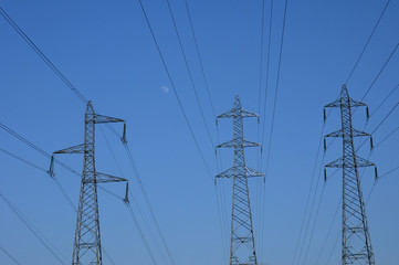 France, electric lines in Val d Oise