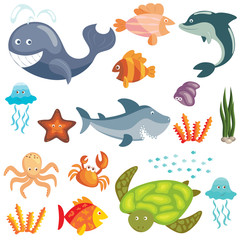 Marine animals set