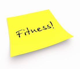 Notizzettel - Fitness!