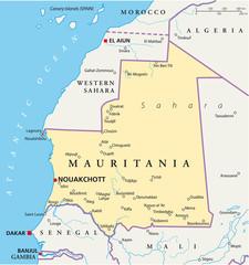 Mauritania map (Mauretanien Landkarte)
