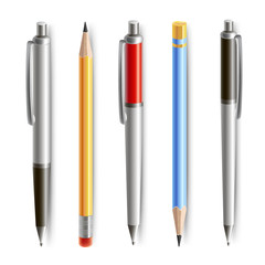 Set of pencil and pen