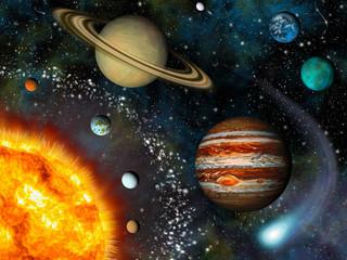 Wall Mural - 3D Solar System