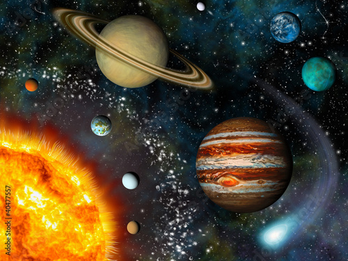 universe solar system paintings art - HD