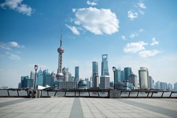 Aluminium Prints Shanghai daytime scene of shanghai