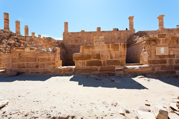 Ruins of Great Temple in Petra