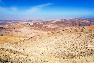 mountain panorama of Jordan near Petra