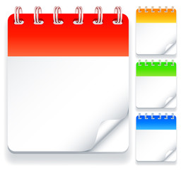 Color calendars with blank pages.