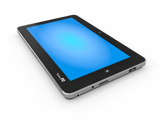 Tablet PC on white isolated background