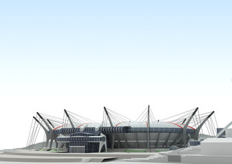 3d project of the stadium